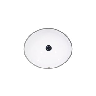 Price Check Vanity Ceramic Oval Undermount Bathroom Sink with Overflow By St Thomas Creations by Icera