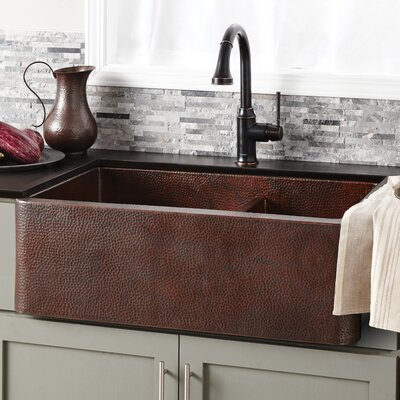 Kitchen Sink Double Basin Antique Copper photo