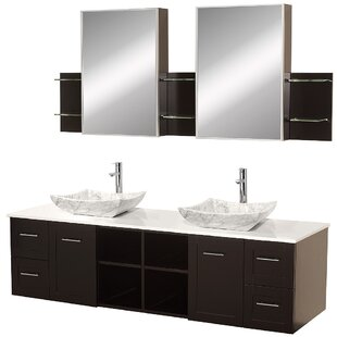Avara 72 Double Bathroom Vanity Set With Medicine Cabinet