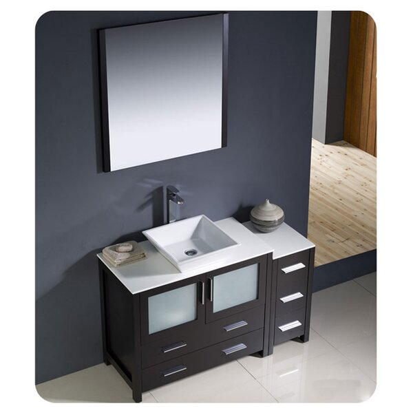 Torino 48 Single Bathroom Vanity Set with Mirror