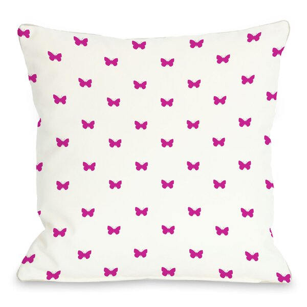 Mini All Over Butterfly Throw Pillow by One Bella Casa
