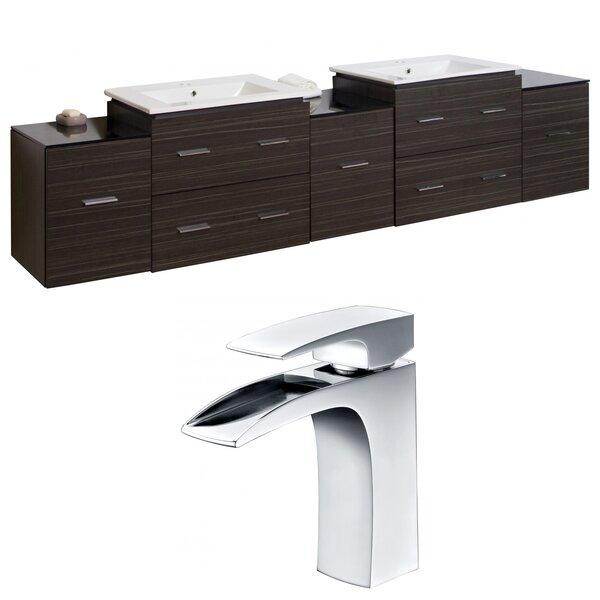 Alican 90 Wall-Mounted Double Bathroom Vanity Set
