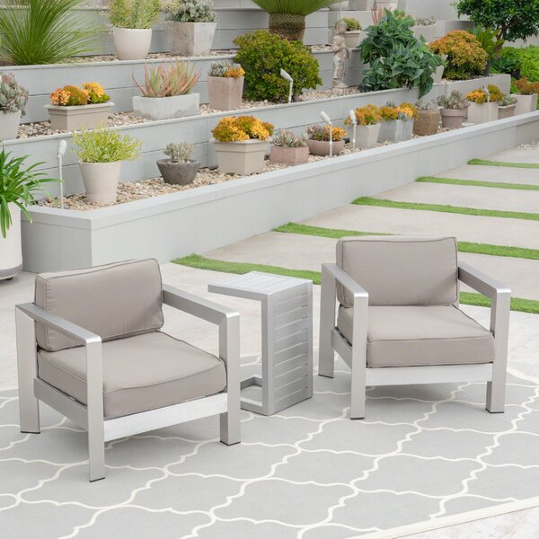 Smitherman Rattan 3 Piece Seating Group with Cushion by Orren Ellis