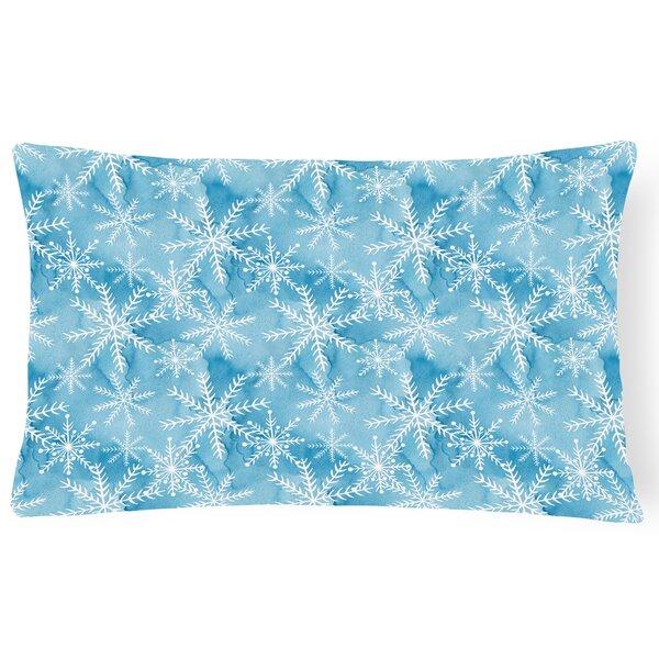 Remi Watercolor Snowflake Indoor/Outdoor Throw Pillow by Zoomie Kids