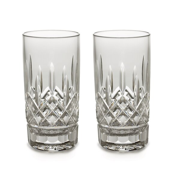 Lismore 12 oz. Crystal Highball Glass (Set of 2) by Waterford