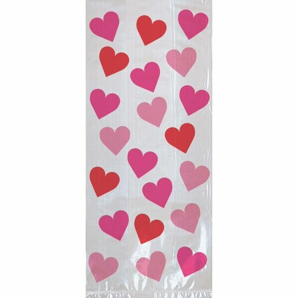 Large Key to Your Heart Valentine's Day Treat Bags (Set of 60) by Amscan