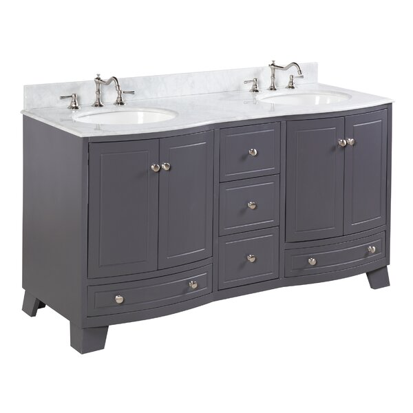 Palazzo 60 Double Bathroom Vanity Set by Kitchen Bath Collection
