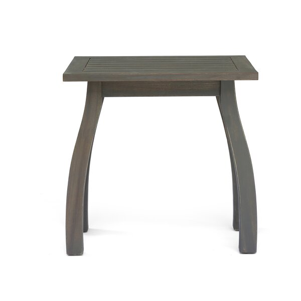 Vanhorn Outdoor Wooden Side Table by Highland Dunes