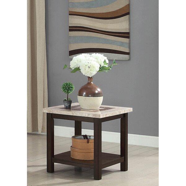 Caspar End Table by Alcott Hill