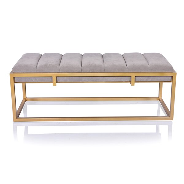 Gamache Metal Bench by Everly Quinn