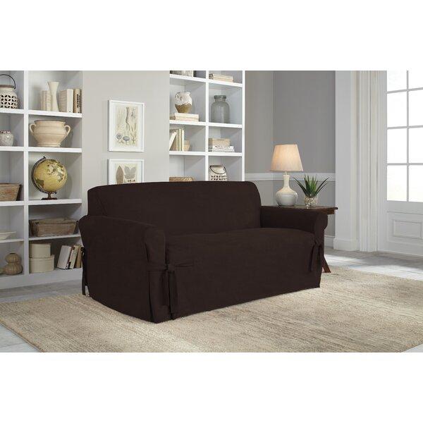 Box Cushion Loveseat Slipcover by Serta