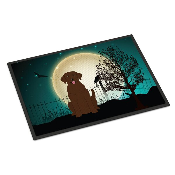 Halloween Scary Labrador Doormat by Caroline's Treasures