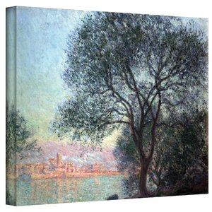 ''Antibbes'' by Claude Monet Painting Print on Wrapped Canvas by Alcott Hill