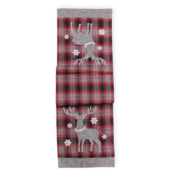 Flannel Deer Runner by The Holiday Aisle