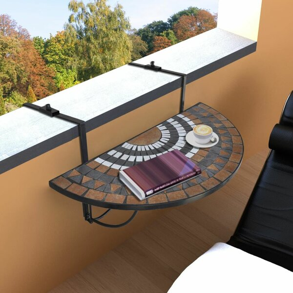 Valenti Folding Balcony Table by Fleur De Lis Living