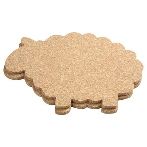 Cork Sheep Hot Pot Stand / Tablemat (Set of 2)