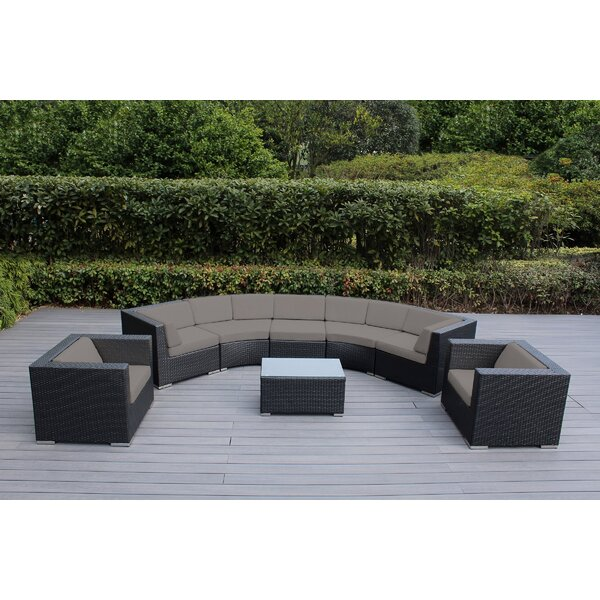 Popham 8 Piece Sunbrella Sectional Seating Gr with Cushions