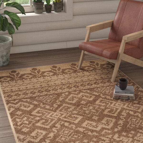 St. Ann Highlands Camel/Chocolate Area Rug by Loon Peak