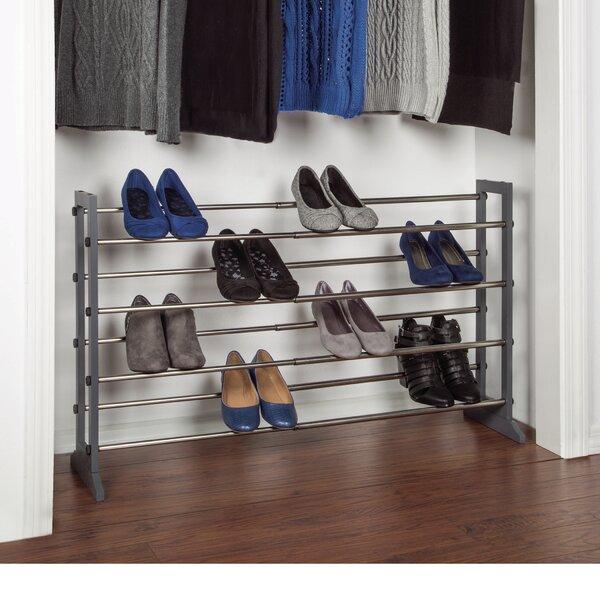 24 Pair Stackable Shoe Rack
