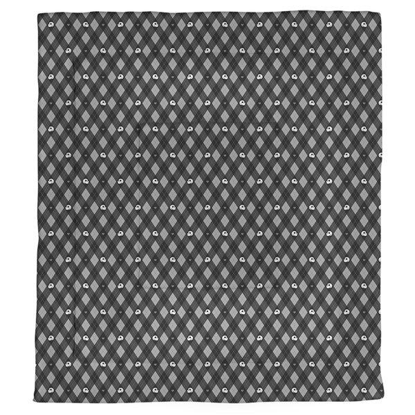 Avicia Argyle Skulls Single Reversible Comforter
