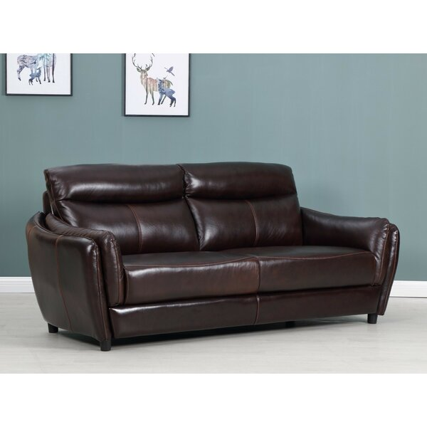 Amazing Selection Liberty Street Top Grain Leather Sofa by Red Barrel Studio by Red Barrel Studio