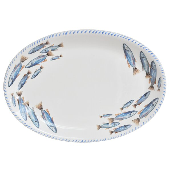 Lake Fish Oval Platter by Abbiamo Tutto