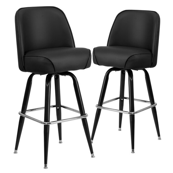 Kirk Metal 30 Swivel Bar Stool (Set of 2) by Ebern Designs