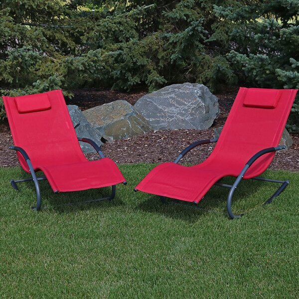 Warfel Rocking Wave Sun Lounger Set (Set Of 2) By Winston Porter