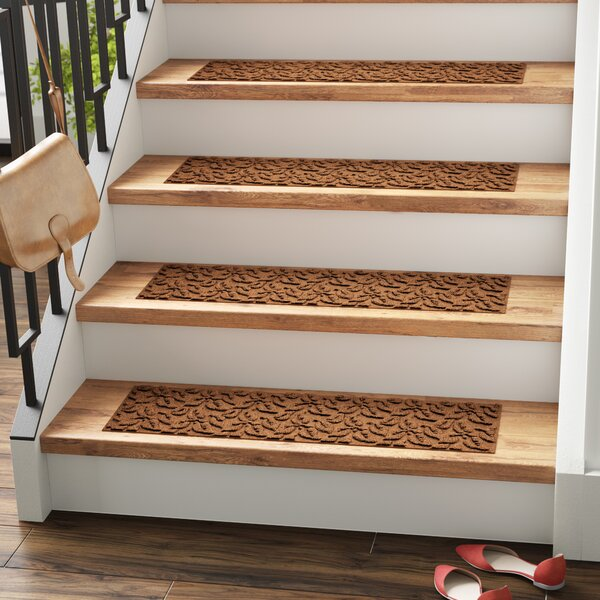 Amald Dogwood Leaf Stair Tread (Set of 4) by Red Barrel Studio