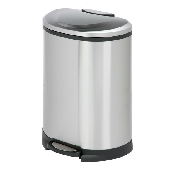 Stainless Steel 13.2 Gallon Step On Trash Can by Honey Can Do