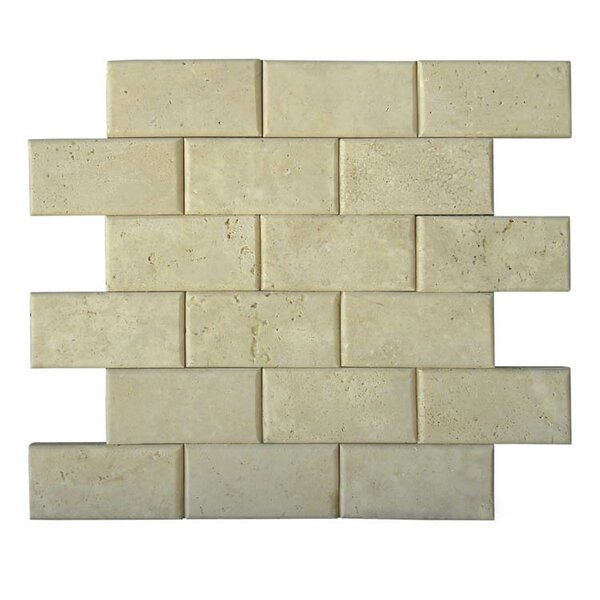 Pillow Edge 2 x 4 Natural Stone Mosaic Tile in Brown by QDI Surfaces
