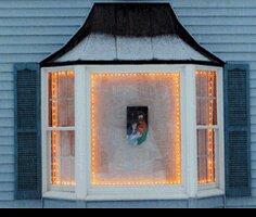 4 Rod Christmas Light Set by Window Wonder
