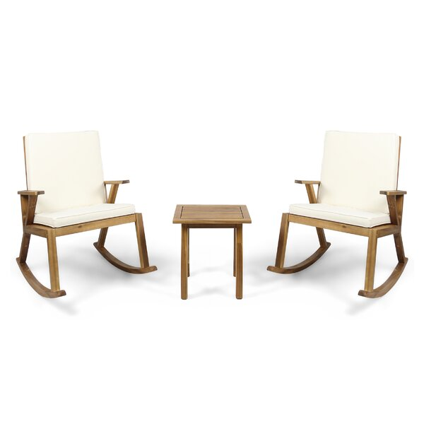 Geist Cici 3 Piece Teak Seating Group with Cushion by Gracie Oaks