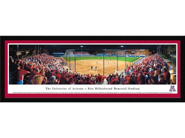 NCAA The University of Arizona - Rita Hillenbrand Memorial Stadium by James Blakeway Framed Photographic Print by Blakeway Worldwide Panoramas, Inc