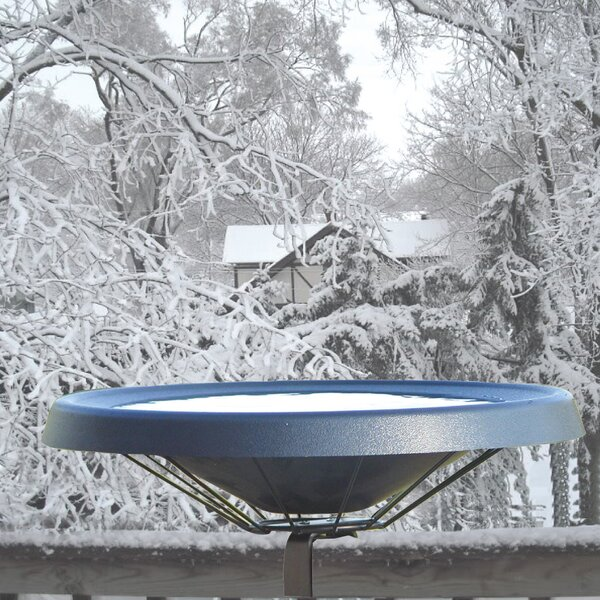 Deck Mount Heated Birdbath by Birds Choice