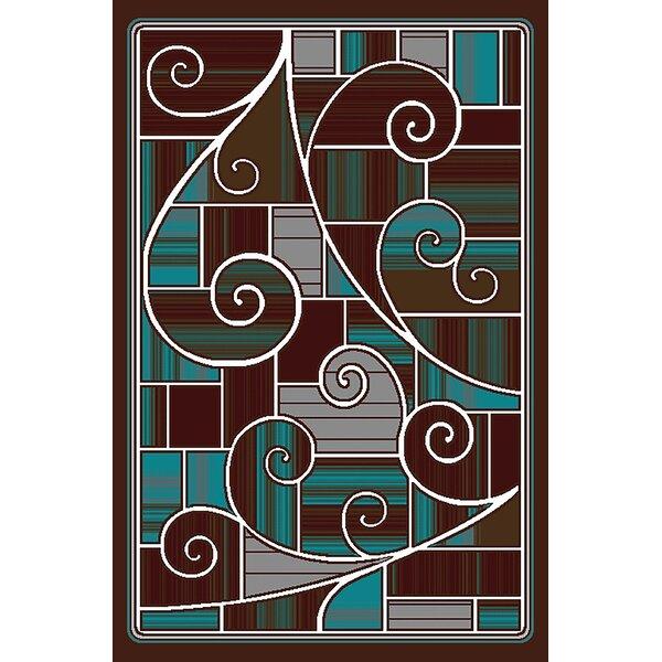 Cosper Brown/Blue Area Rug by Ebern Designs