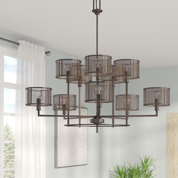 Falite 10-Light Shaded Chandelier by 17 Stories