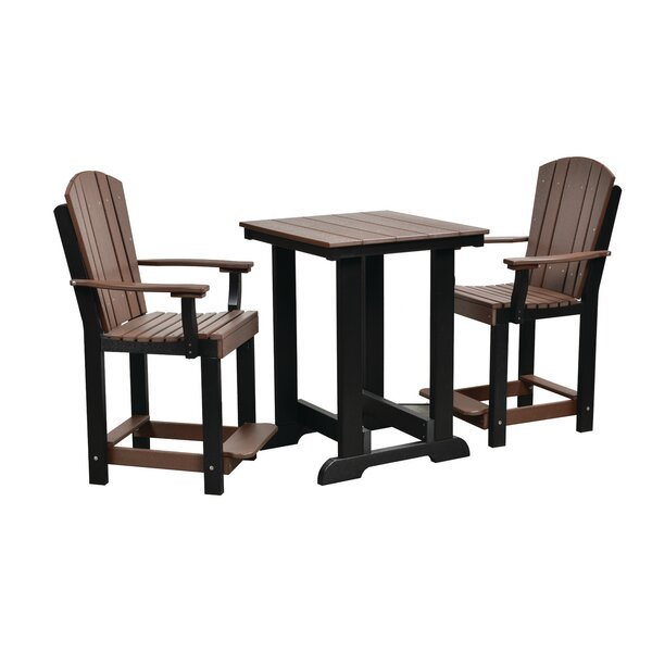 Heritage 3 Piece Dining Set by Longshore Tides