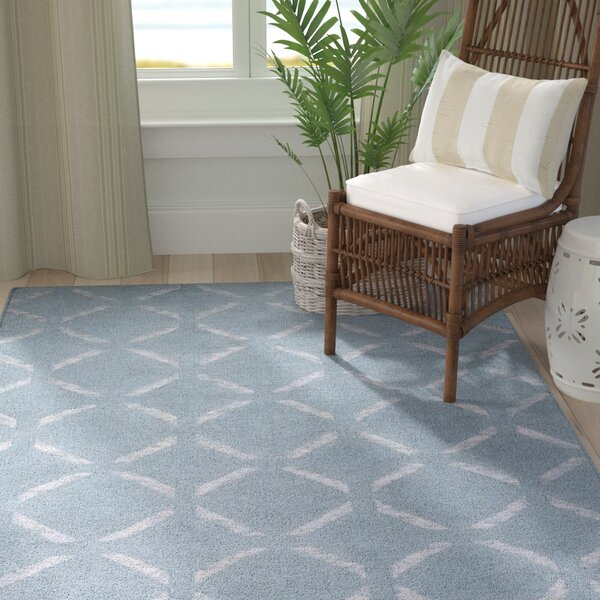 Chesterton Hand Woven Blue Area Rug by Highland Dunes
