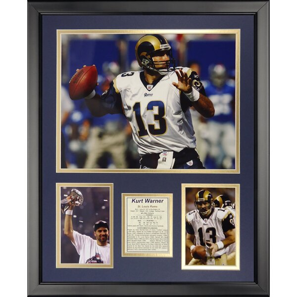 NFL St. Louis Rams - Kurt Warner Framed Memorabili by Legends Never Die
