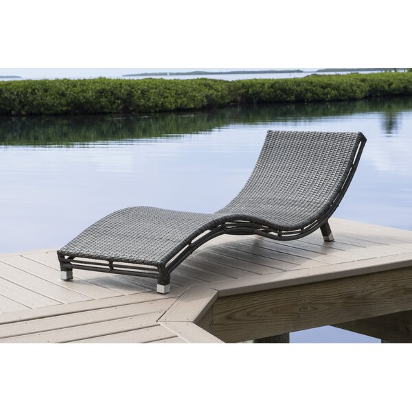 Graphite Curve Chaise Lounge by Panama Jack Outdoor Panama Jack Outdoor
