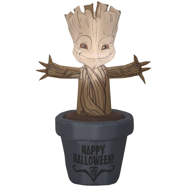 Baby Groot in Halloween Pot SM Marvel Inflatable by The Holiday Aisle