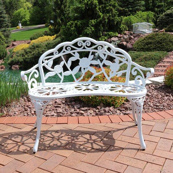 Montezuma Cast Aluminum Garden Bench by Ophelia & Co.
