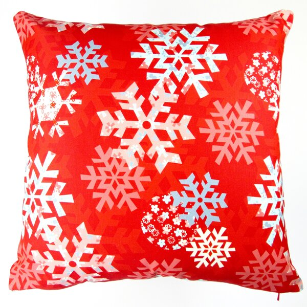 Christmas Snowflakes Throw Pillow by Artisan Pillows