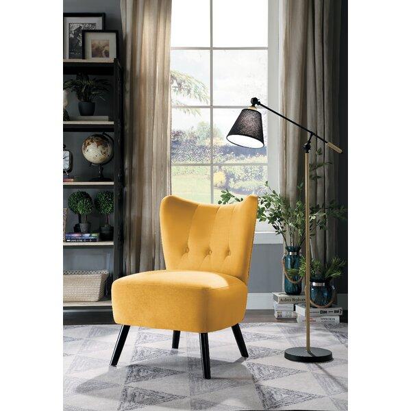 Holeman Velvet Slipper Chair By George Oliver