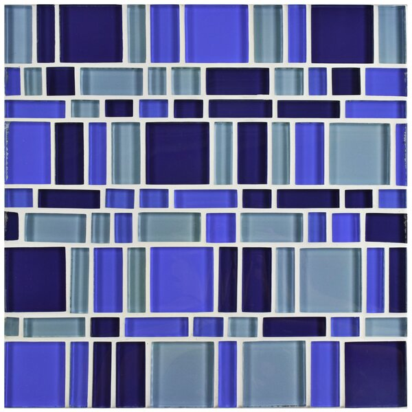 Sierra Random Sized Glass Mosaic Tile in Magic Celeste by EliteTile