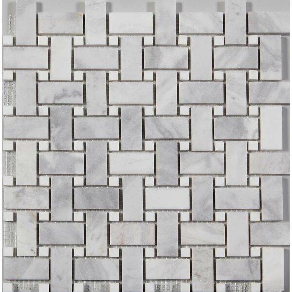 Random Sized Mosaic Tile in Argento Dolomite by Ephesus Stones