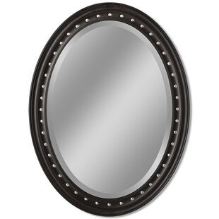 Latitude Run Teak Oval Accent Wall Mirror