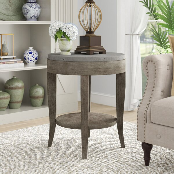Mari Round End Table By Gracie Oaks