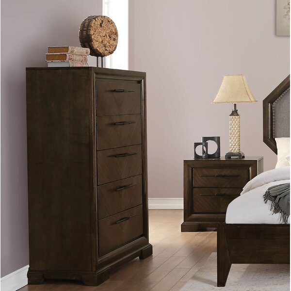 Bloomington 5 Drawer Lingerie Chest by Foundry Select